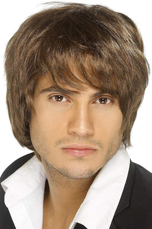 Boy Band Wig - Brown