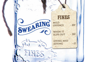 Mason Jar Saver Tin: Swearing