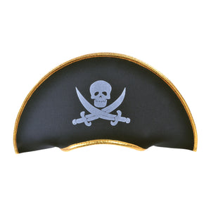 Pirate Hat Fabric With Gold Edging