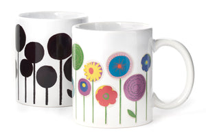 Heat Changing Morph Mug - Flowers