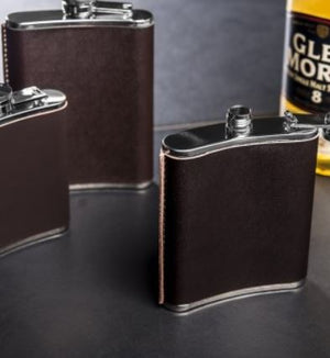 Leather Hip Flask - 7oz