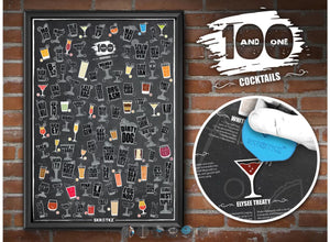 101 Best Cocktails of All Time Scratch Off Poster
