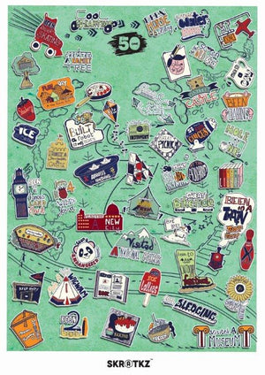 51 Things To Do With The Family Poster Scratch Poster