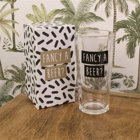 """Fancy A Beer"" Glass"