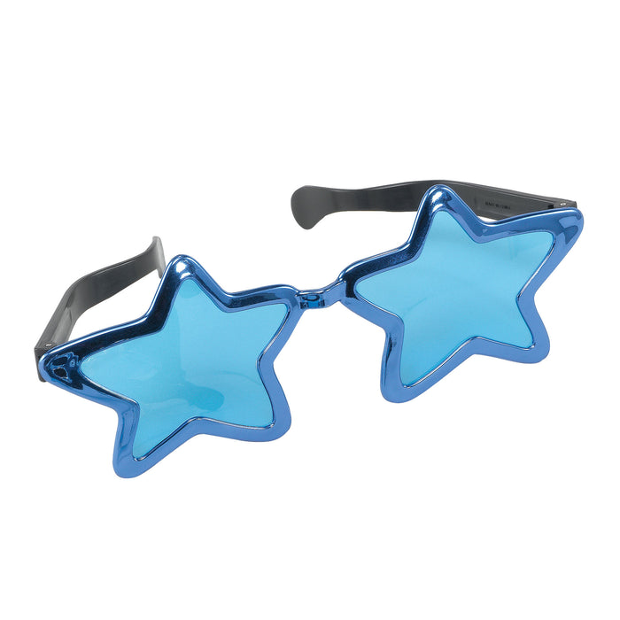 Jumbo Metallic Star Glasses