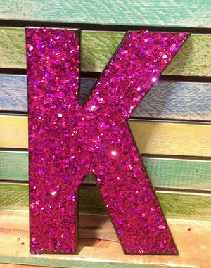 Glitter Letters - Pink (Magenta)