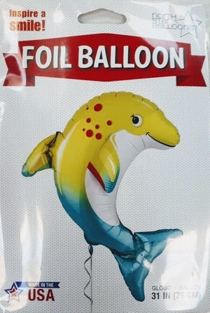 Happy Dolphin Helium Foil Balloon - 31""