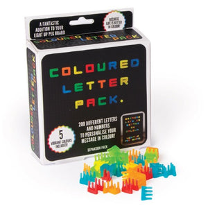 Colour Letter Pack (Peg Board)