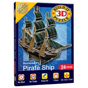 3D Mini Puzzle Pirate Ship 24pcs