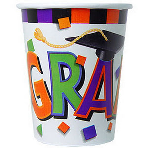 Colourful Confetti Graduation Paper Cups
