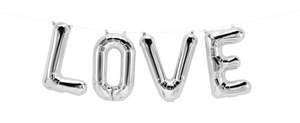 "34"" Letter Helium Foil Balloon - Silver"