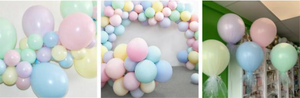 Pastel Matte Round Assorted Colour Balloons (Pack of 100)  - 12""