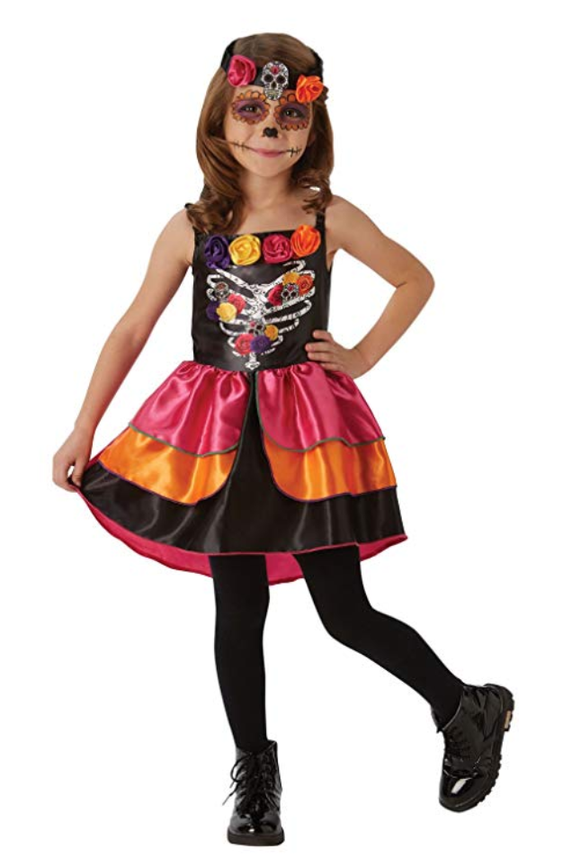 Sugar Skull Day Of The Dead Costume - (Child)