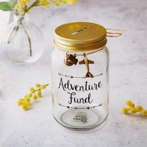 """Adventure Fund"" Money Jar"