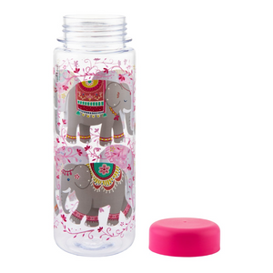 Mandala Elephant Clear Reusable Water Bottle