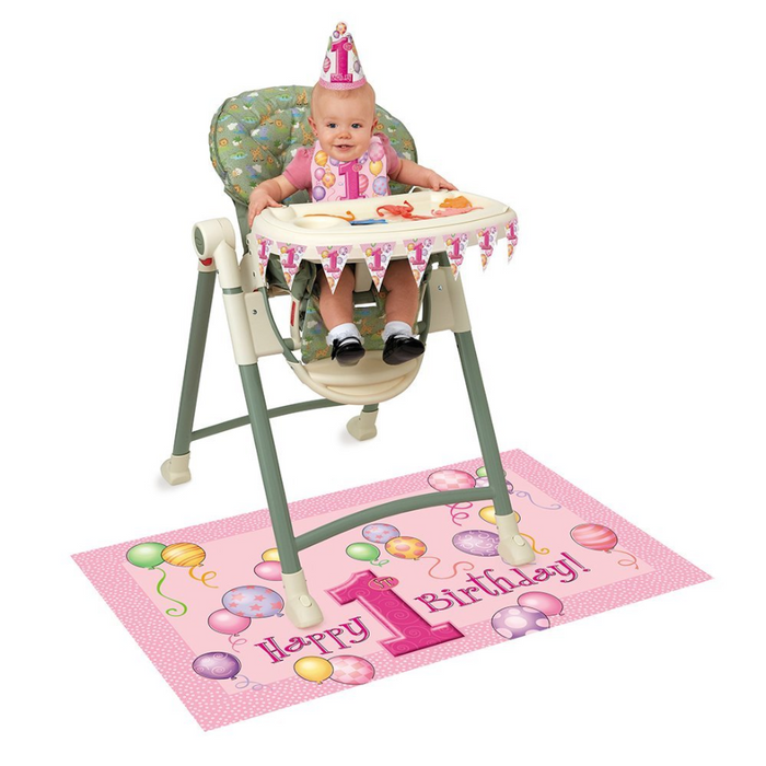 1st Birthday - Pink High Chair Kit