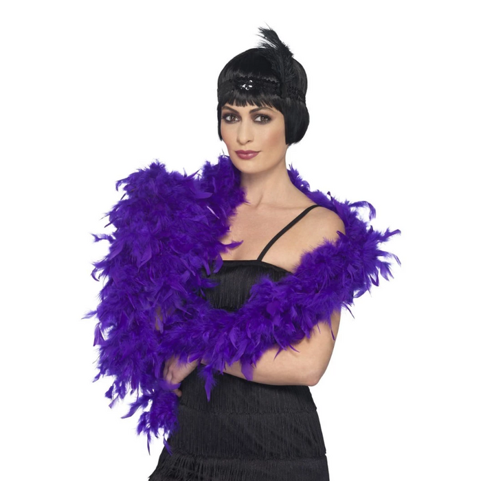 Deluxe Feather Boa, 80g - Purple