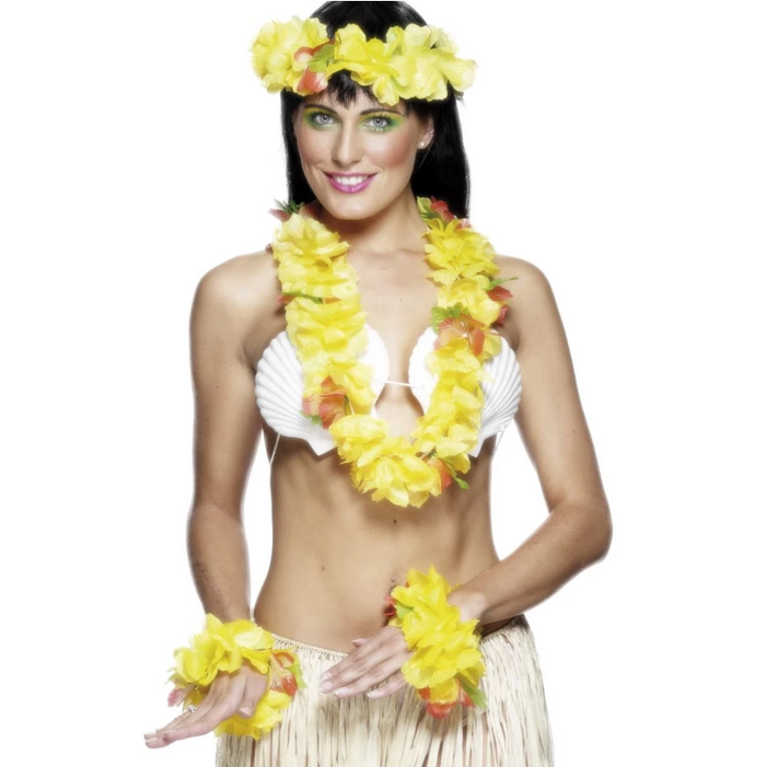 Hawaiian Garland Set - Yellow & Orange