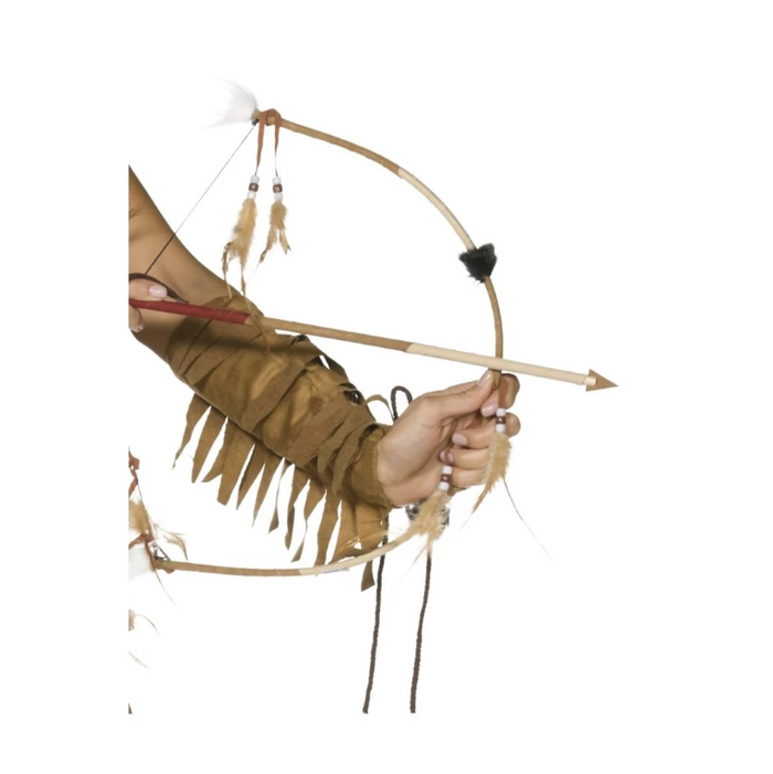 Bow & Arrow Set Feathered - Native American Inspired