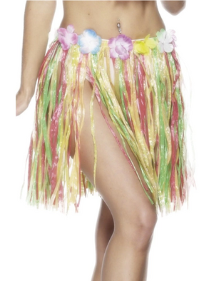 Hawaiian Hula Skirt, Small - Multi-Coloured