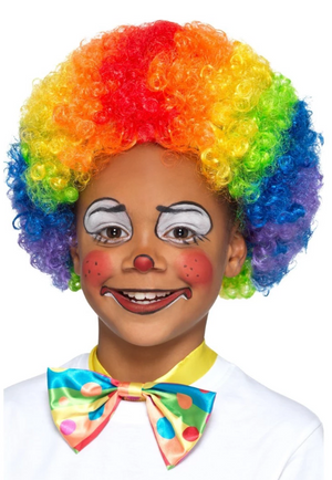 Multi Coloured Clown Wig - Child