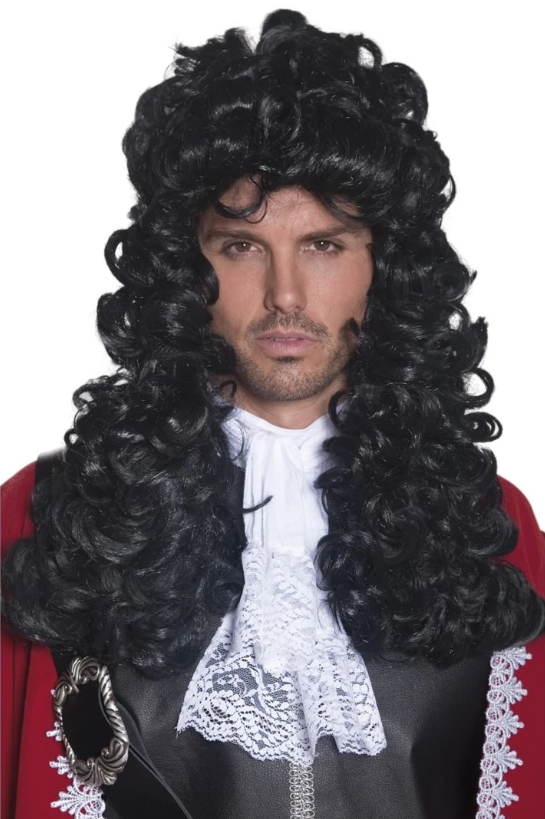 Pirate Captain Wig - Black