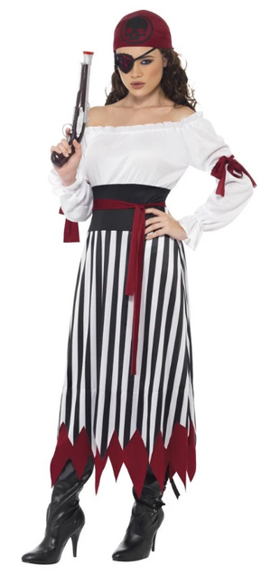 Pirate Lady Costume, Black & White