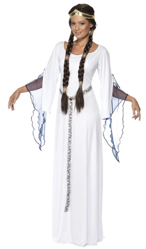 Medieval Maid Costume - White