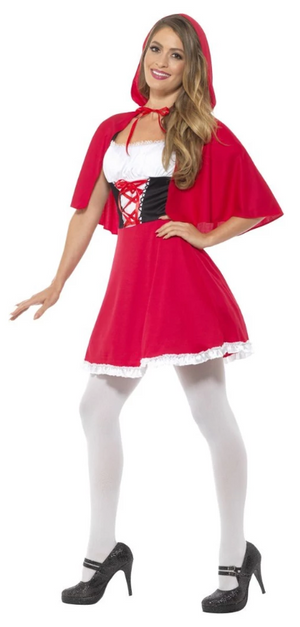 Red Riding Hood Costume - Short Dress