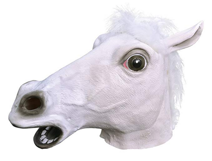 Horse Head Mask - White