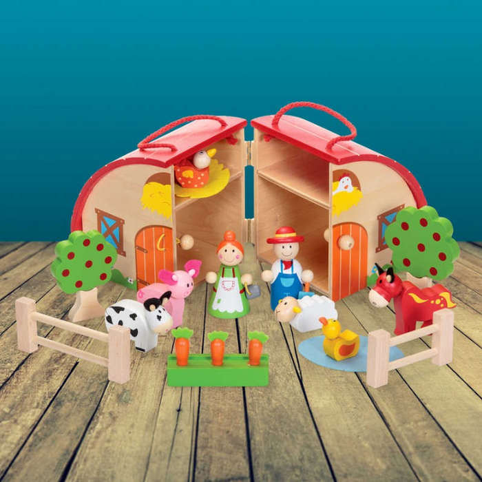 Wooden Farm Playset