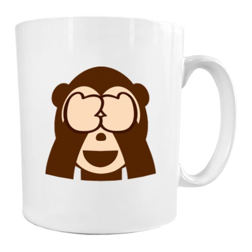 Fun Faces Mug  See No Evil Monkey  Emoji