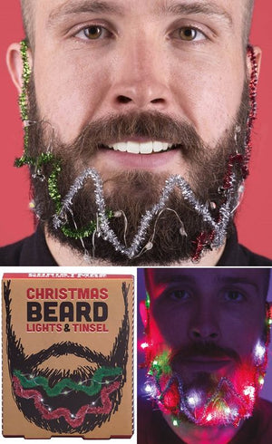 Christmas Beard Lights & Tinsel
