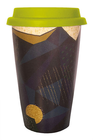 Bamboo Cup - Green & Blue