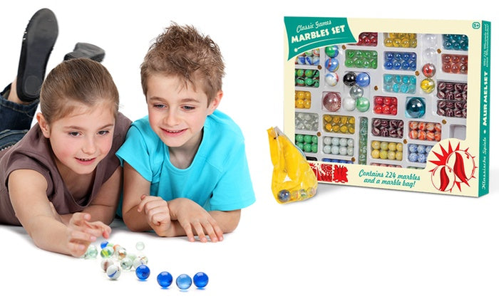 Classic Games 224 Piece Marble Set