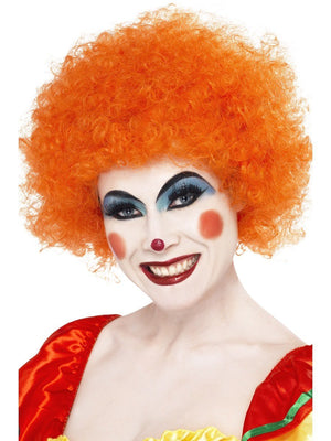Crazy Clown Wig - Orange (Adult)