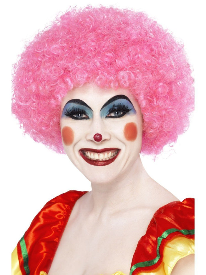 Crazy Clown Wig - Pink (Adult)