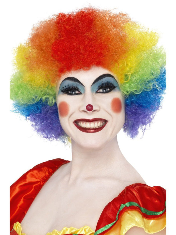 Crazy Clown Wig - Multi-Colour (Adult)