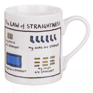 The Law Of Straightness Mug