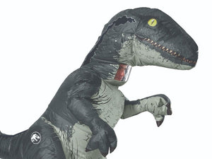 Inflatable Blue Velociraptor Costume (Adult)