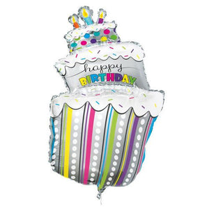 Giant Birthday Cake Helium Foil Balloon - 40""