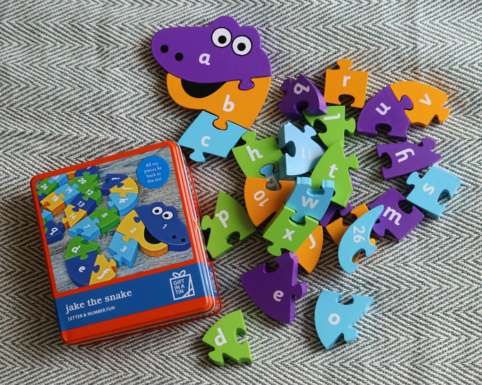 Gift In A  Tin - Jake the Snake Letter & Number Fun