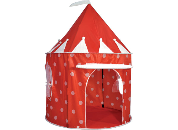 Kids Kingdom Pop-Up Play Tent - Polka Dot Red