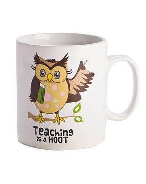 Giant Teacher Hoot Mug
