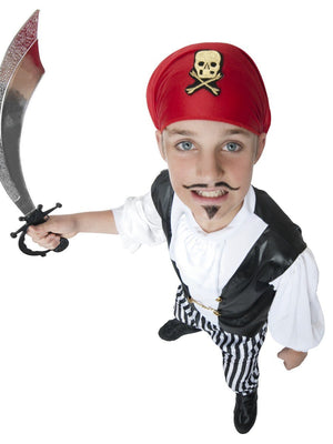 Pirate (Black & White) Costume