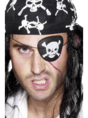 Pirate Eyepatch, with Skull and Crossbones