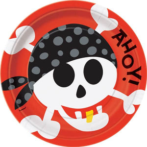 Pirate Fun Party Plates 9""