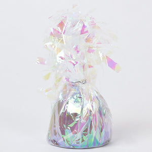 Foil Balloon Weight - Small Iridescent