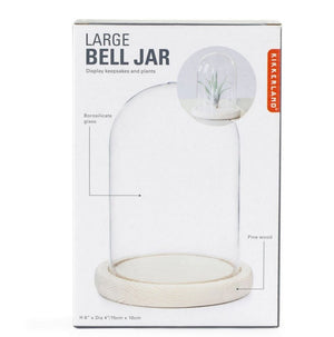 Large Bell Jar With Wood Base