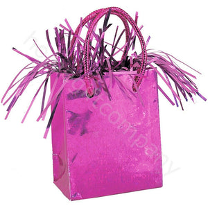 Gift Bag Shaped Balloon Weight - Hot Pink